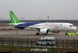 Már csúcssebességgel gurul a kínai C919-es