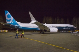 Perceken belül levegőbe emelkedik az első B 737-9 MAX