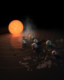 Hét Föld szerű bolygó a Trappist-1 rendszerben: némelyikük akár élhető is lehet